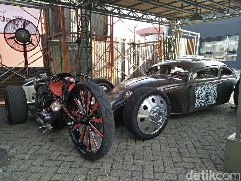 Kreatif, Mobil dan Motor Ini Dibuat dari Barang Bekas