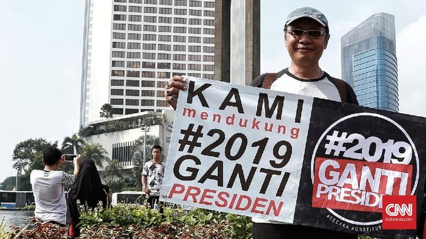 Salah satu aksi damai gerakan #2019GantiPresiden.
