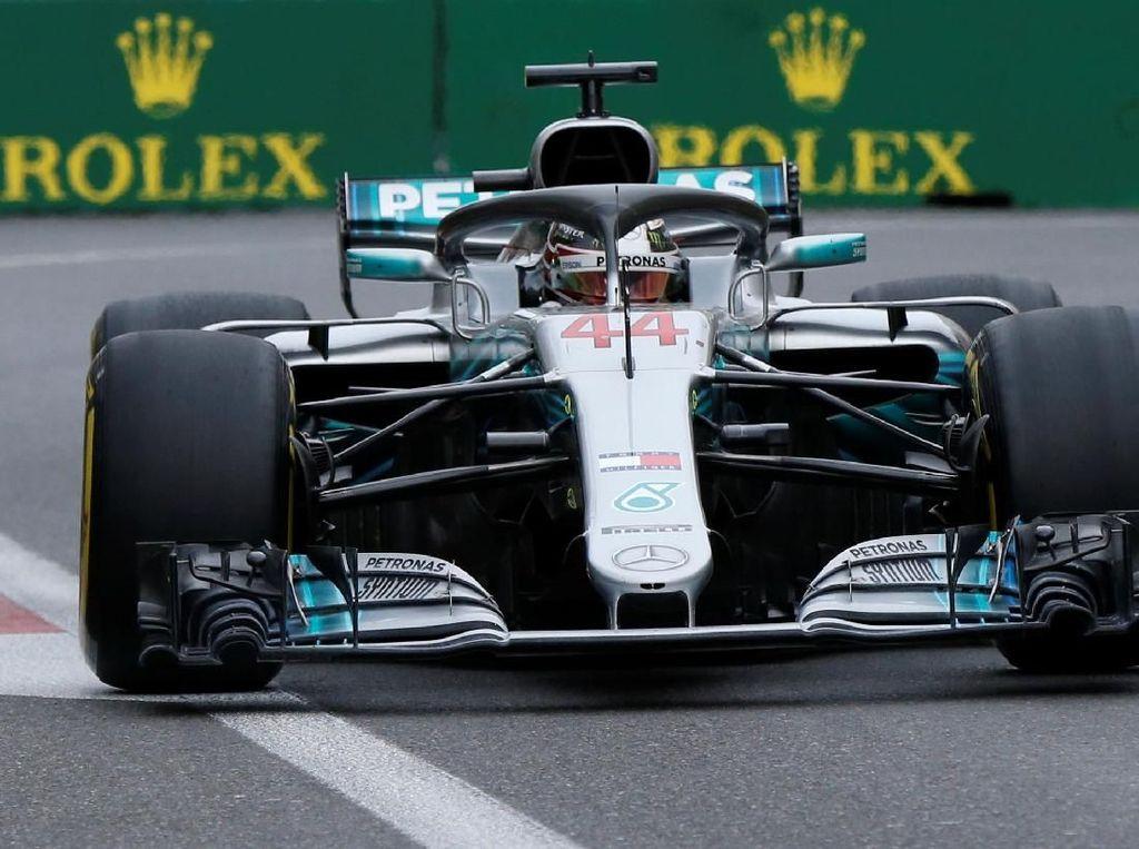 Hamilton Menang di Baku, Bottas Out, Vettel Keempat