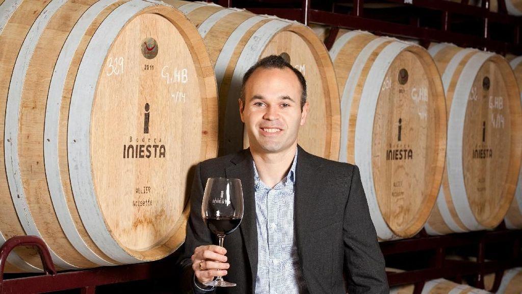 Foto: Andres Iniesta dan Wisata Wine Miliknya