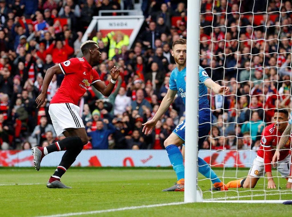 Pogba Bawa MU Memimpin 1-0 atas Arsenal