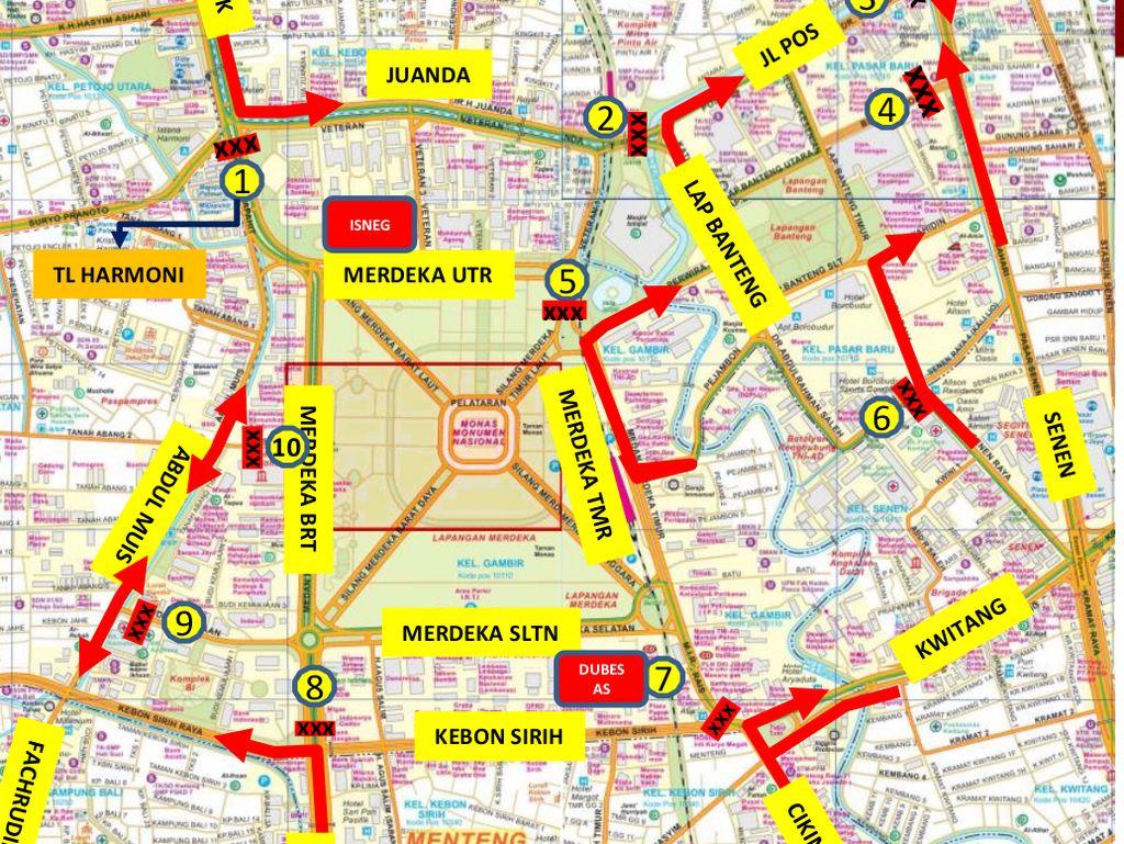 Catat! Ini Skema Pengalihan Arus Lalin di Jakarta Saat May Day