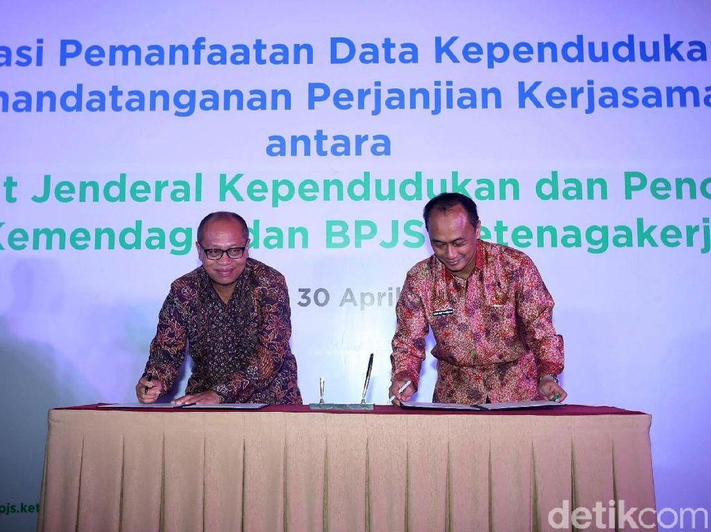 BPJS Ketenagakerjaan dan Kemendagri Jalin Kerja Sama