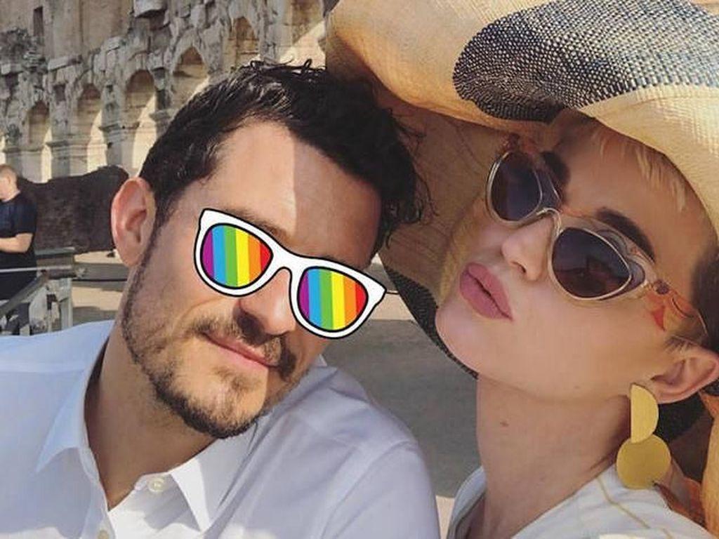 Disebut Balikan, Katy Perry-Orlando Bloom Liburan Bareng ke Italia