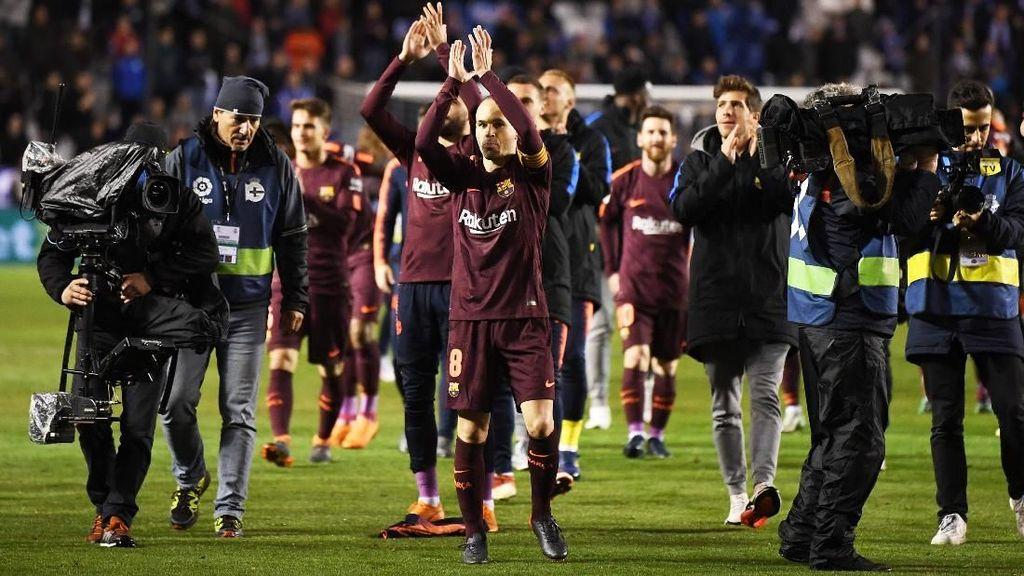 Rayakan Gelar La Liga, Fans Barca Tumpah ke Jalan