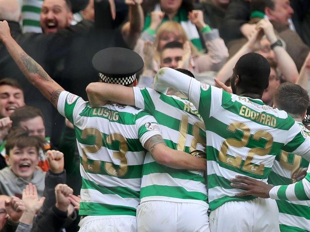 Perayaan Gol Pemain Celtic yang Bikin Polisi Kesal