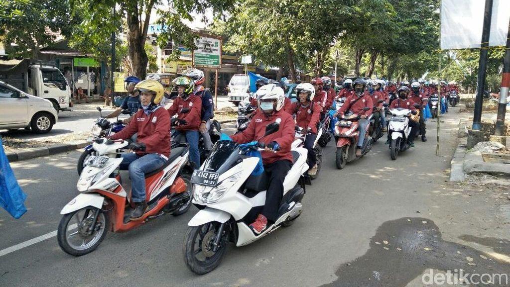 Bermotor, Ribuan Karyawan Honda Ramaikan Hari Buruh