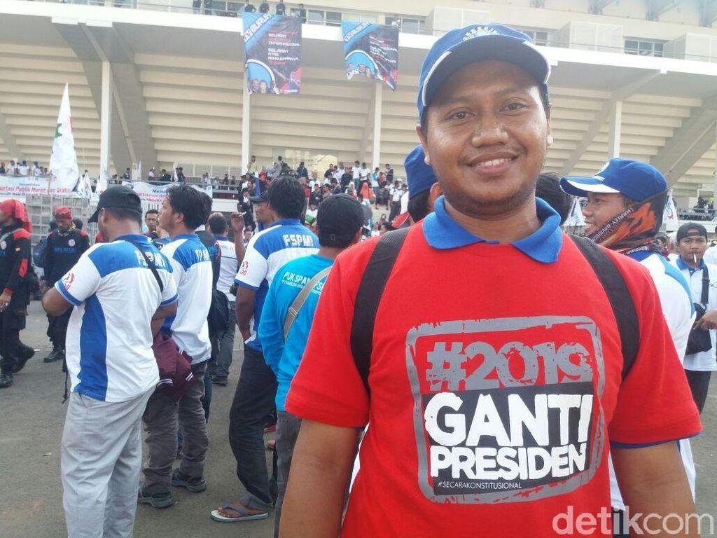 Video: Buruh KSPI Kenakan Kaus #2019GantiPresiden