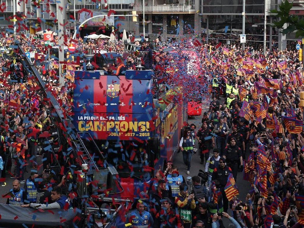 Foto: Kemeriahan Perayaan Gelar Barcelona