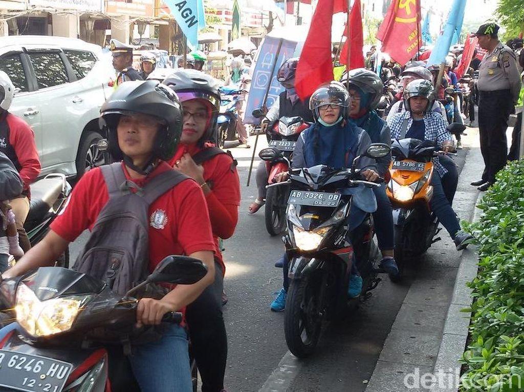 Aksi May Day di Yogyakarta, Buruh Tuntut Rumah Murah