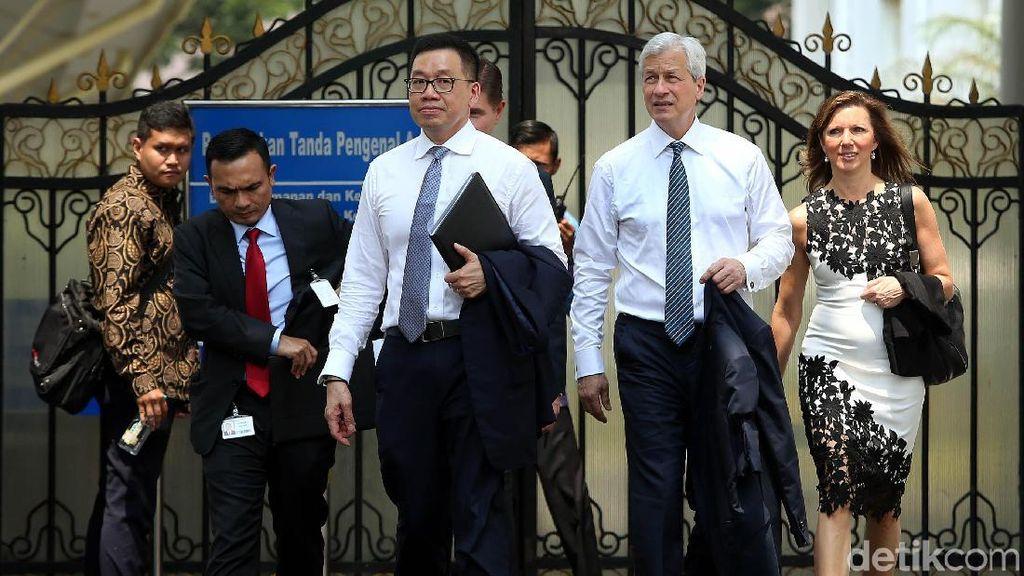 Jajaran JPMorgan Temui Jokowi di Istana Merdeka