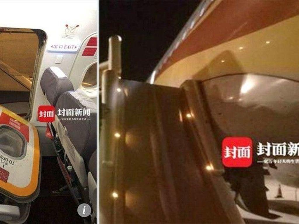 Pengap di Pesawat, Pria Ini Ditahan Gara-gara Buka Pintu Darurat