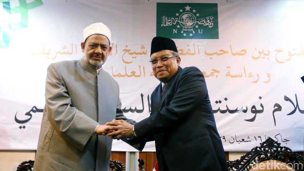 Suasana Hangat di Pertemuan Ketum PBNU dan Imam Besar Al-Azhar