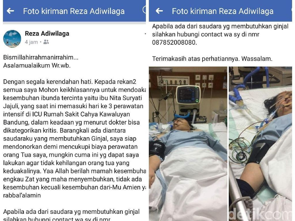 Anak Eks Wabup Sukabumi Niat Jual Ginjal, Perawatan Ibu Tak Pakai BPJS