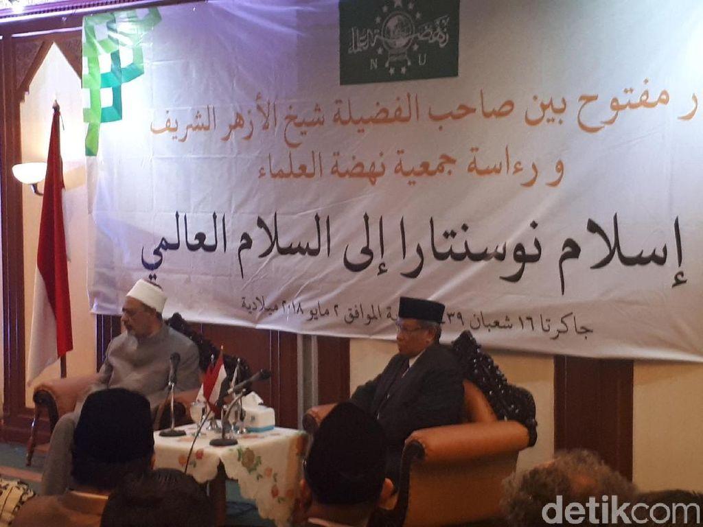 Imam Besar Al Azhar dan PBNU Sepakat Tolak Agama Jadi Alat Politik