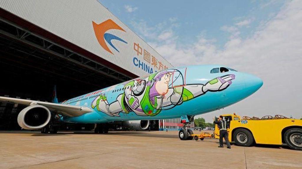 Foto: Pesawat Lucu Bertema Kartun Toy Story