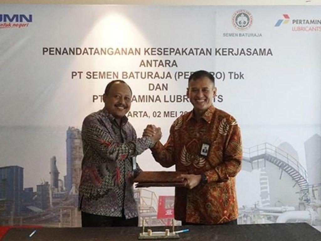 Pertamina Lubricants Dukung Operasional PT Semen Baturaja