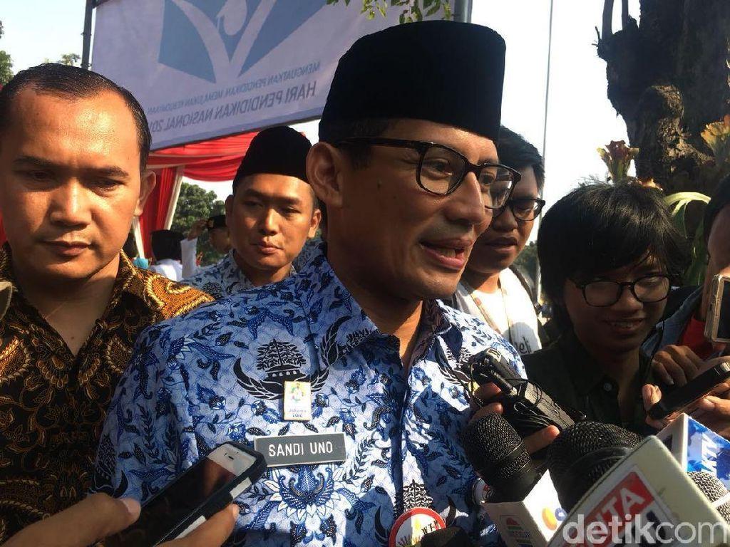 Sandiaga Minta Insiden Bagi Sembako di Monas Tak Dipolitisasi