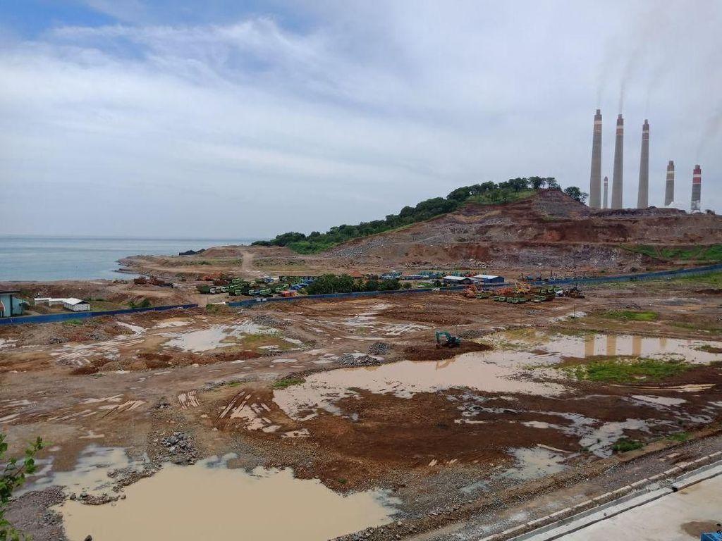 Bum!!! Bukit di Cilegon Diledakkan untuk Proyek PLTU Suralaya