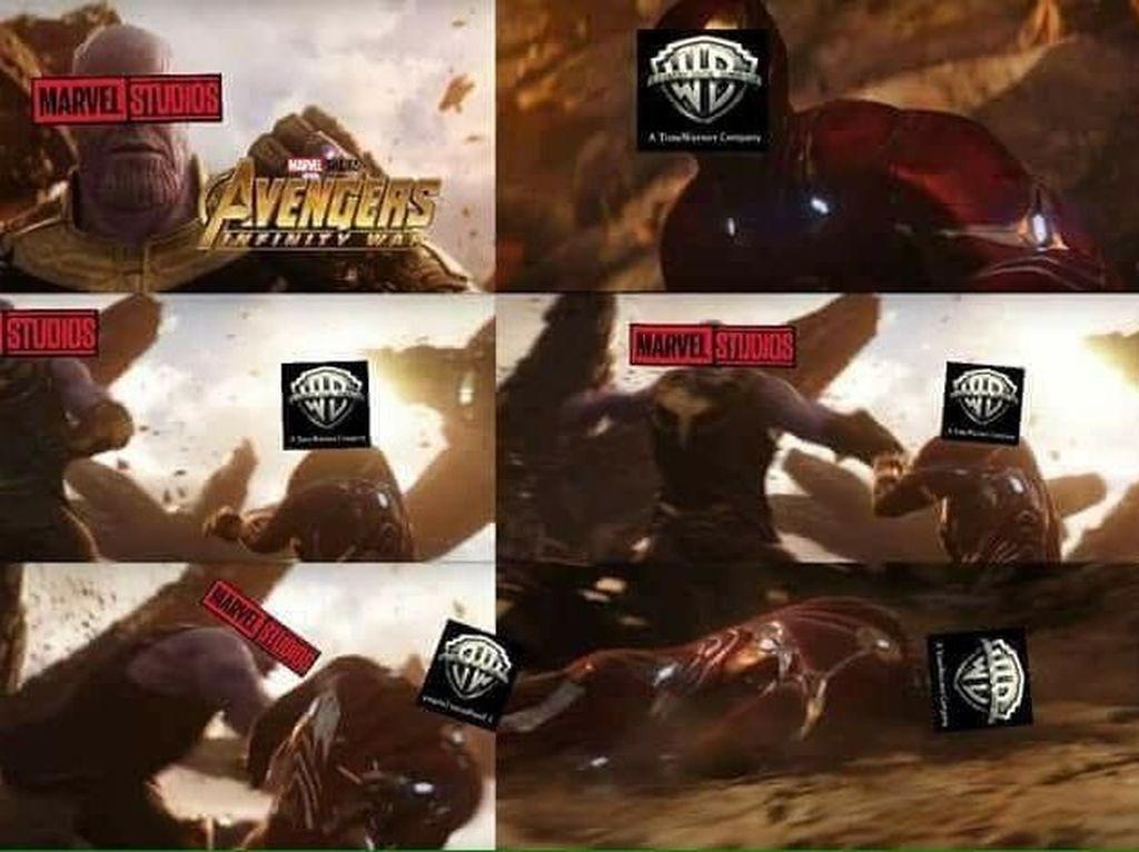 Meme Kocak Superhero Marvel vs DC, Siapa Menang?
