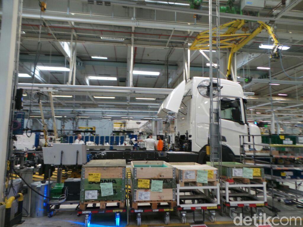 Bertandang ke Pabrik Truk Scania di Sodertalje Swedia