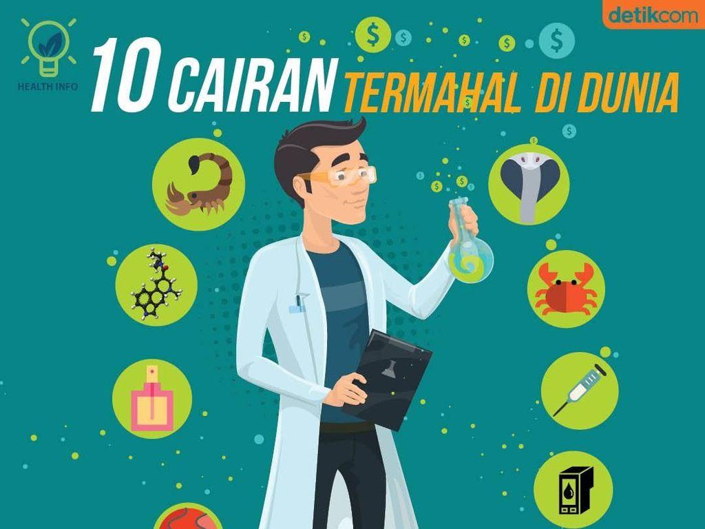 Infografis: 10 Cairan Termahal Selain Racun Kalajengking