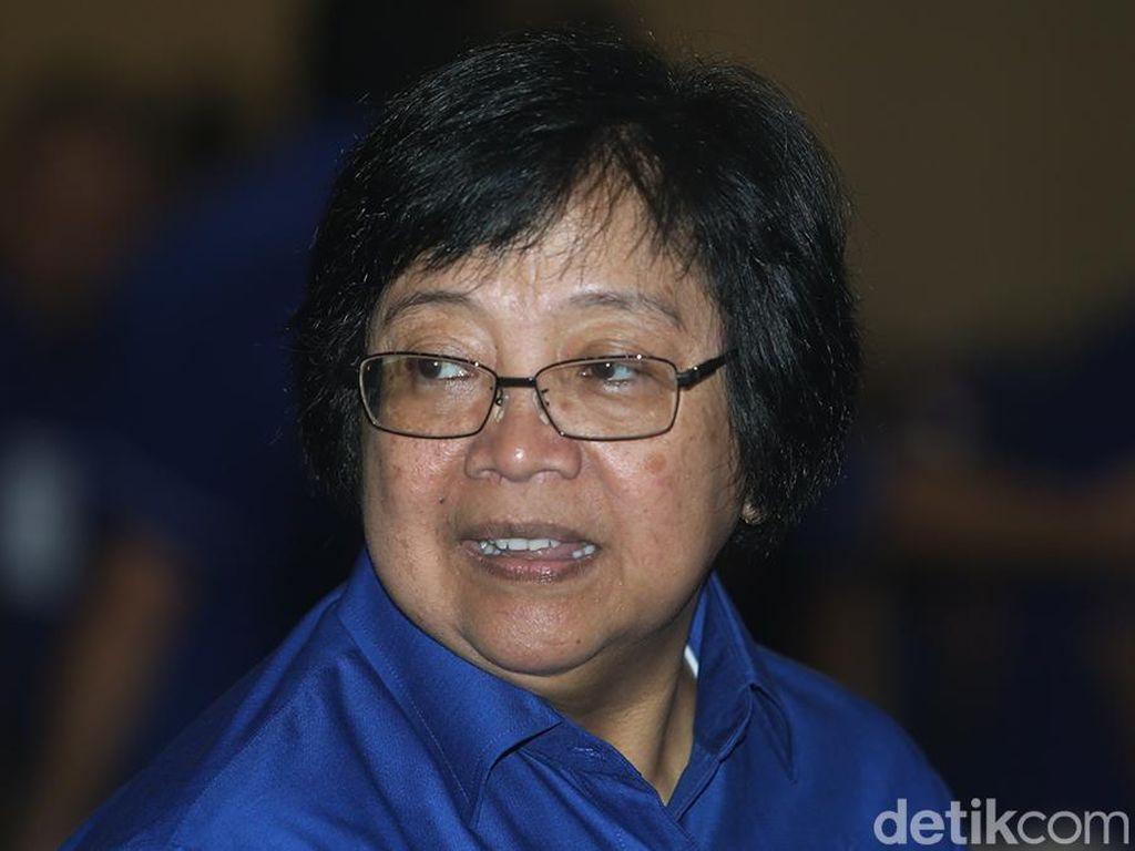Jejak Menteri Siti Gebuk Pembakar Hutan dan Menang Rp 466 Miliar
