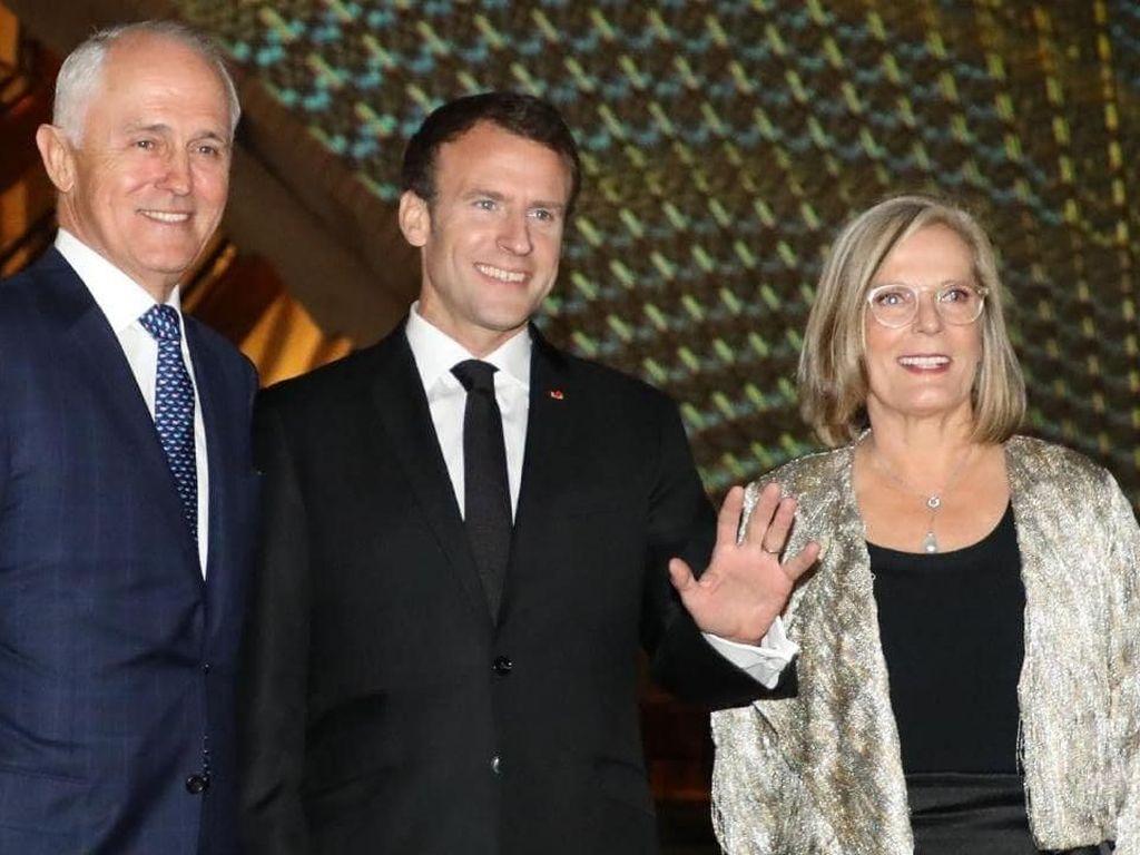 Saat Presiden Prancis Sebut Istri PM Australia Delicious Wife