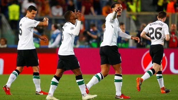 Liverpool mencetak tujuh gol ke gawang Roma di semifinal Liga Champions musim ini.