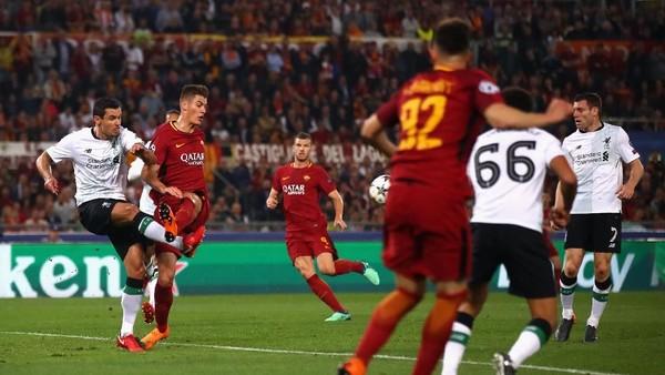 Liverpool Ungguli Roma 2-1 di Babak Pertama