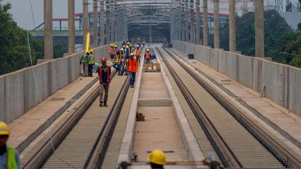 28.000 Meter Rel MRT Jakarta Sudah Terpasang