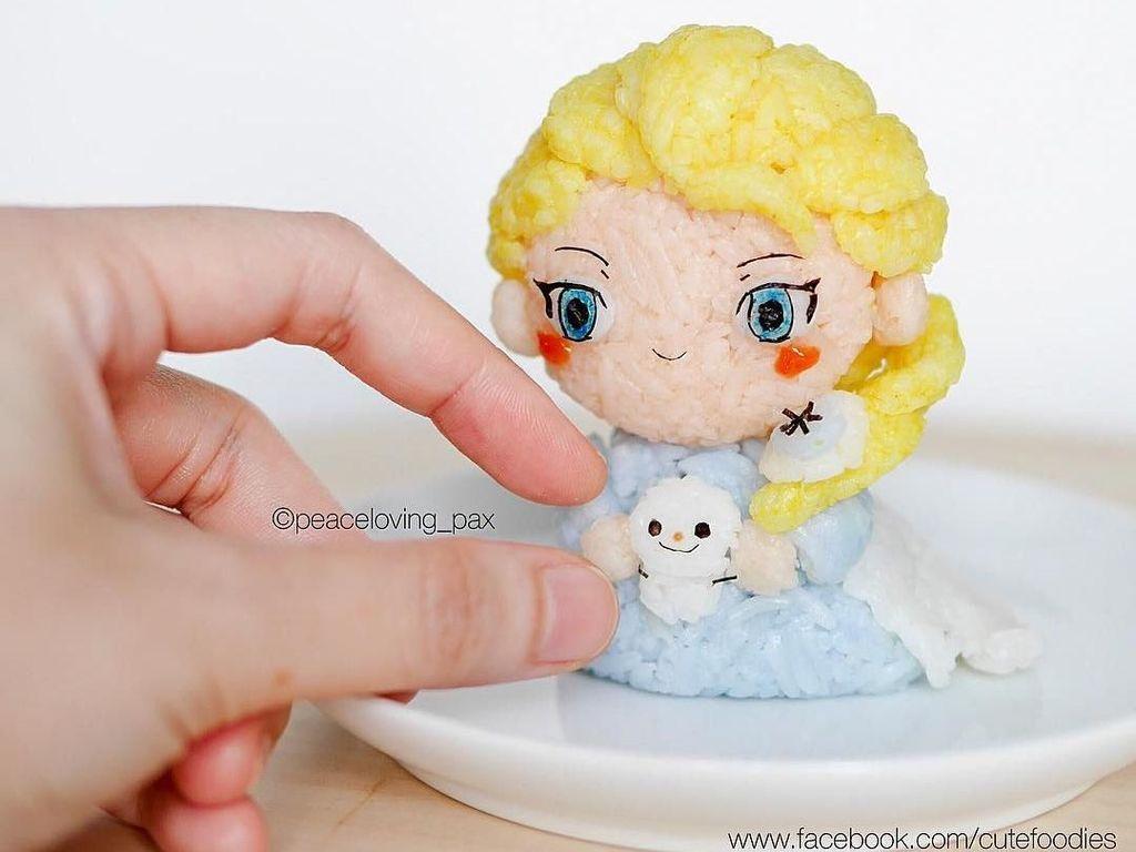 Lucunya, 10 Nasi Kepal Bentuk Elsa hingga Shinchan Buatan Dokter Cantik
