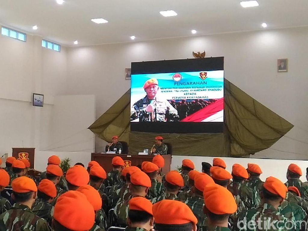 Menhan: Jangan Baru Masuk TNI Sudah Ingin Jadi Gubernur-Presiden
