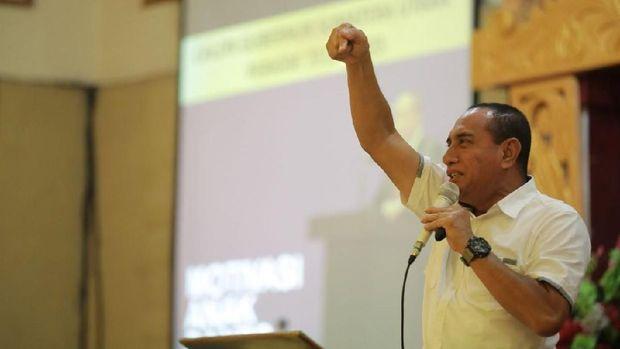 Gubernur Sumut Edy Rahmayadi membentuk timterkait tambang ilegal di Madina.