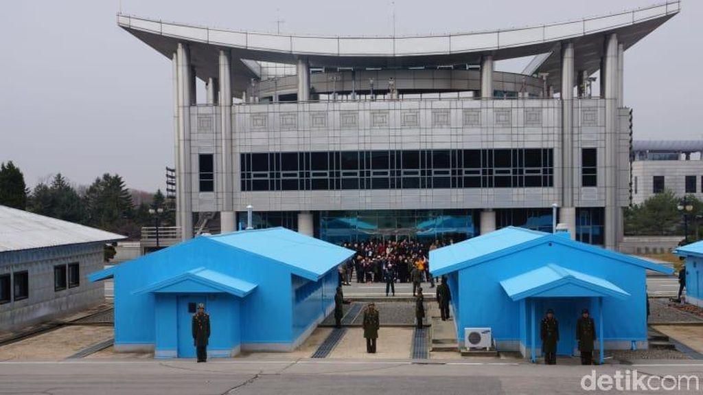 Foto: Garis Pemisah Korea Selatan dan Utara