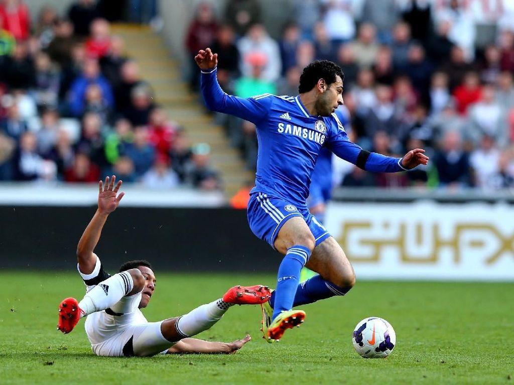 Aksi Salah di Chelsea vs Salah di Liverpool