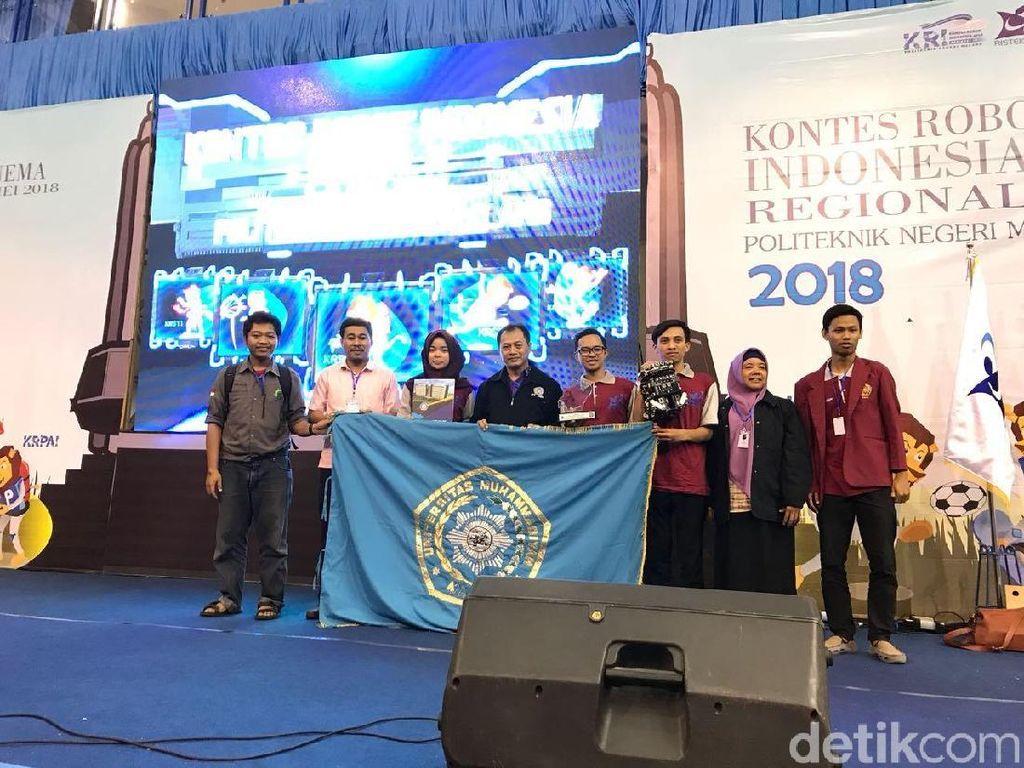 Robot DOME UMM Sabet Juara I Kontes Robot Indonesia 2018