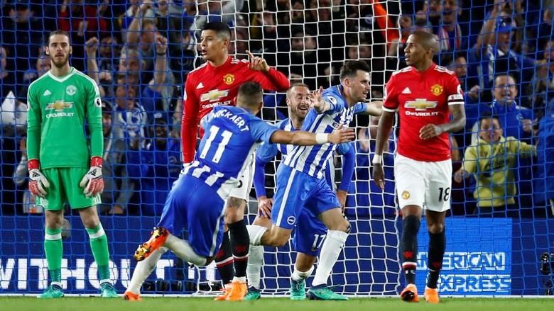 Kalahkan MU, Brighton Pastikan Diri Bertahan di Premier League