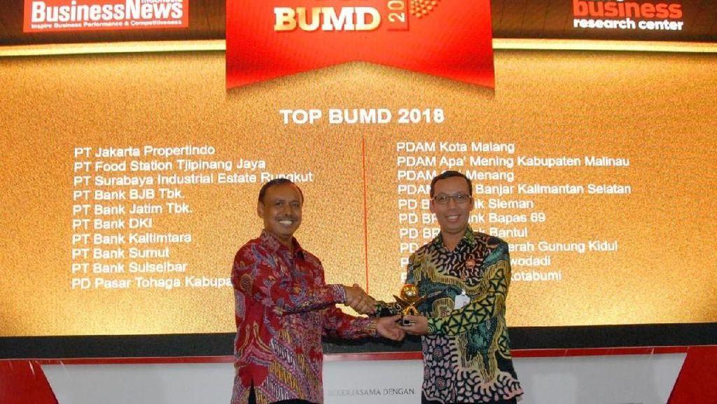 Bank DKI Catatkan Penghargaan Top BUMD 2018