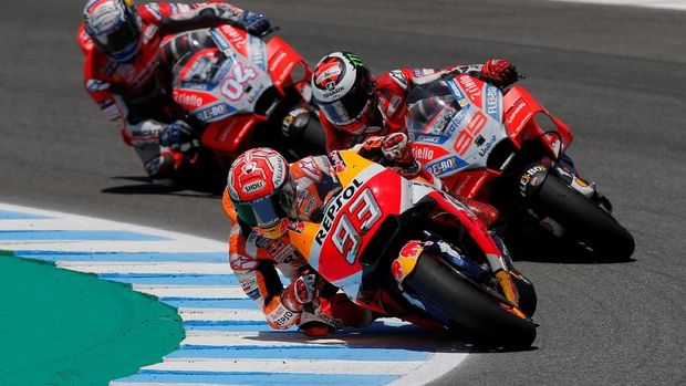 MotoGP Spanyol berlangsung sengit sejak awal balapan.
