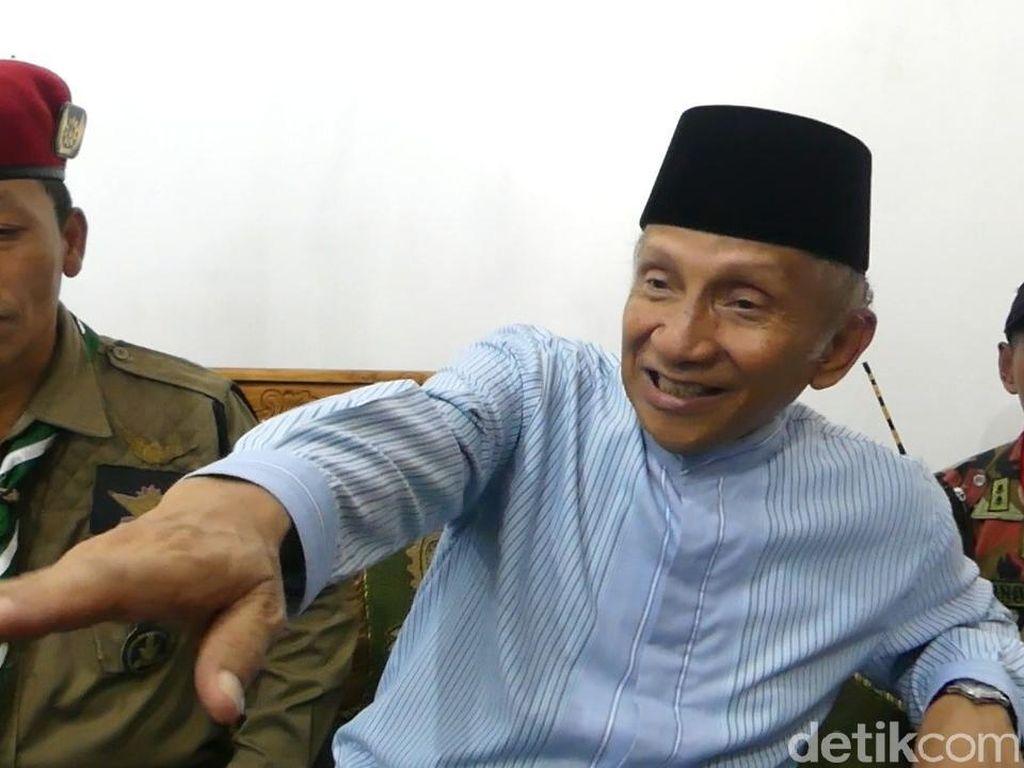 Pesan Amien Rais ke Jokowi soal Pilpres: Mari Bertanding yang Fair!