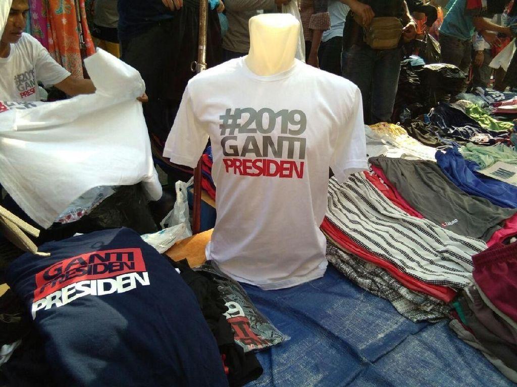 Penampakan Kaus #2019GantiPresiden yang Dijual di CFD