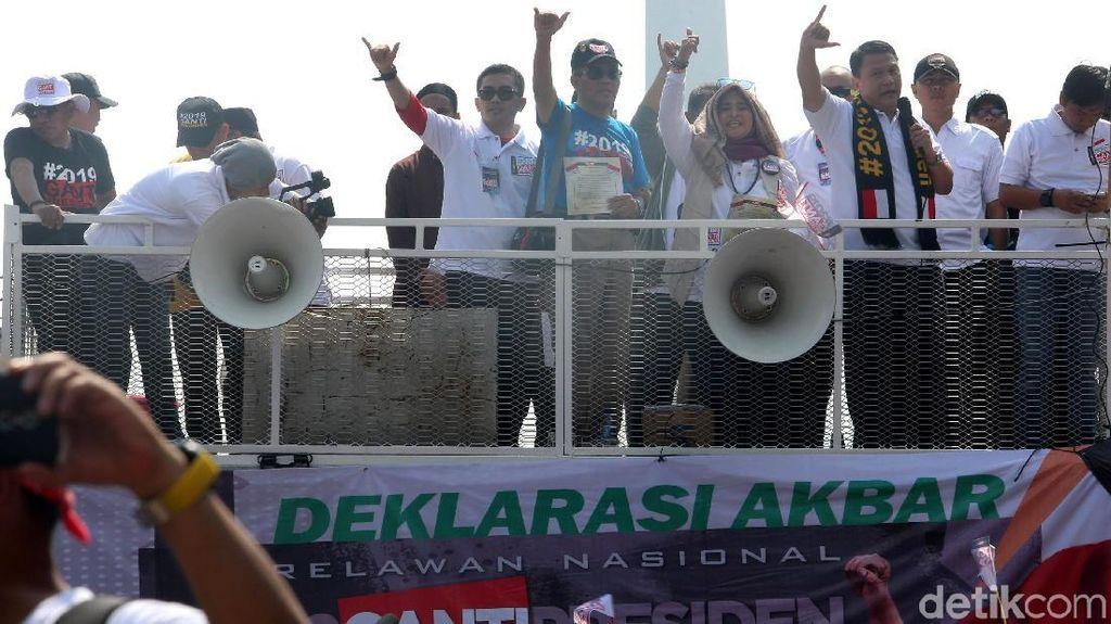 Potret Riuh Deklarasi Akbar Relawan #2019GantiPresiden