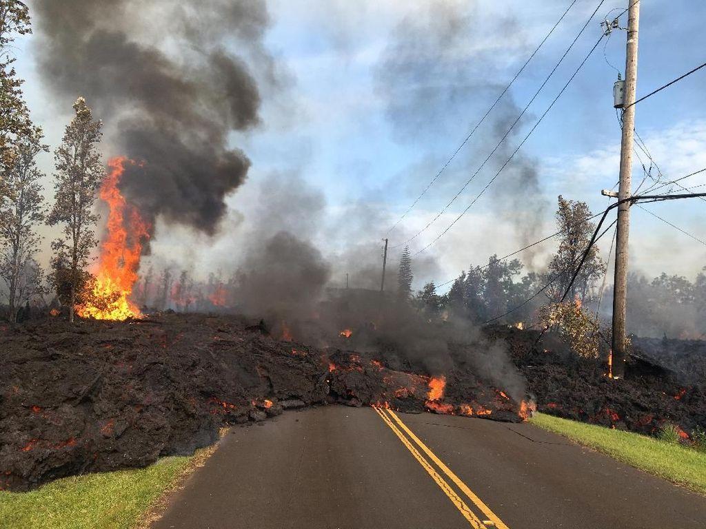 Foto: Lelehan Lahar Gunung Kilauea Hawaii dari Jarak Dekat