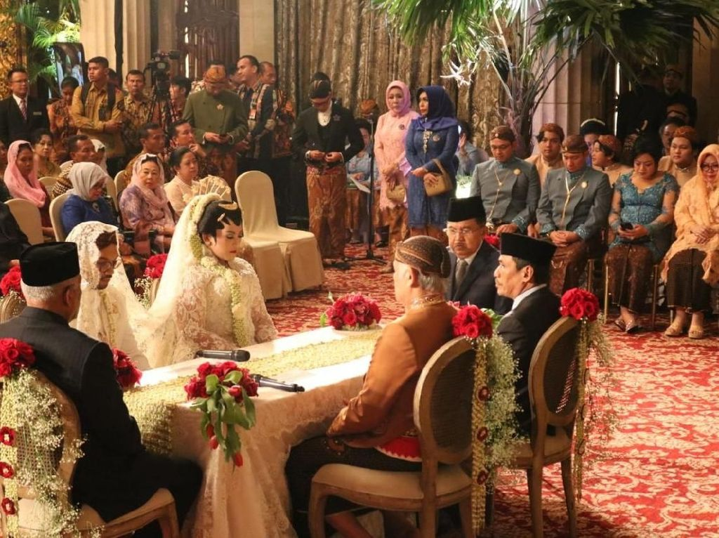 JK Jadi Saksi Nikah Putri Tutut Soeharto, Puan hingga Gatot Hadir