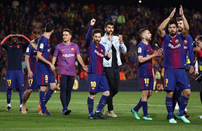 Barcelona diyakini akan tidak terkalahkan di akhir musim ini. (Foto: Sergio Perez/Reuters)