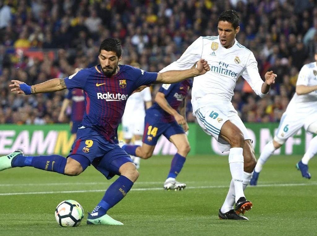 Suarez Akui Langgar Varane Sebelum Bikin Assist untuk Gol Messi
