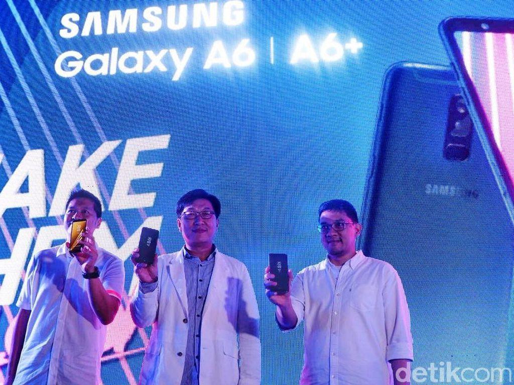 Galaxy A6 dan A6+ Resmi Meluncur di Indonesia