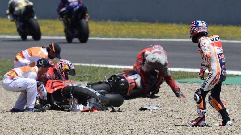 Kecelakaan dengan Duo Ducati, Pedrosa Bantah Tudingan Dovizioso