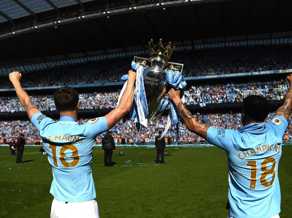 Sah! Manchester City Juara Premier League 2017/2018